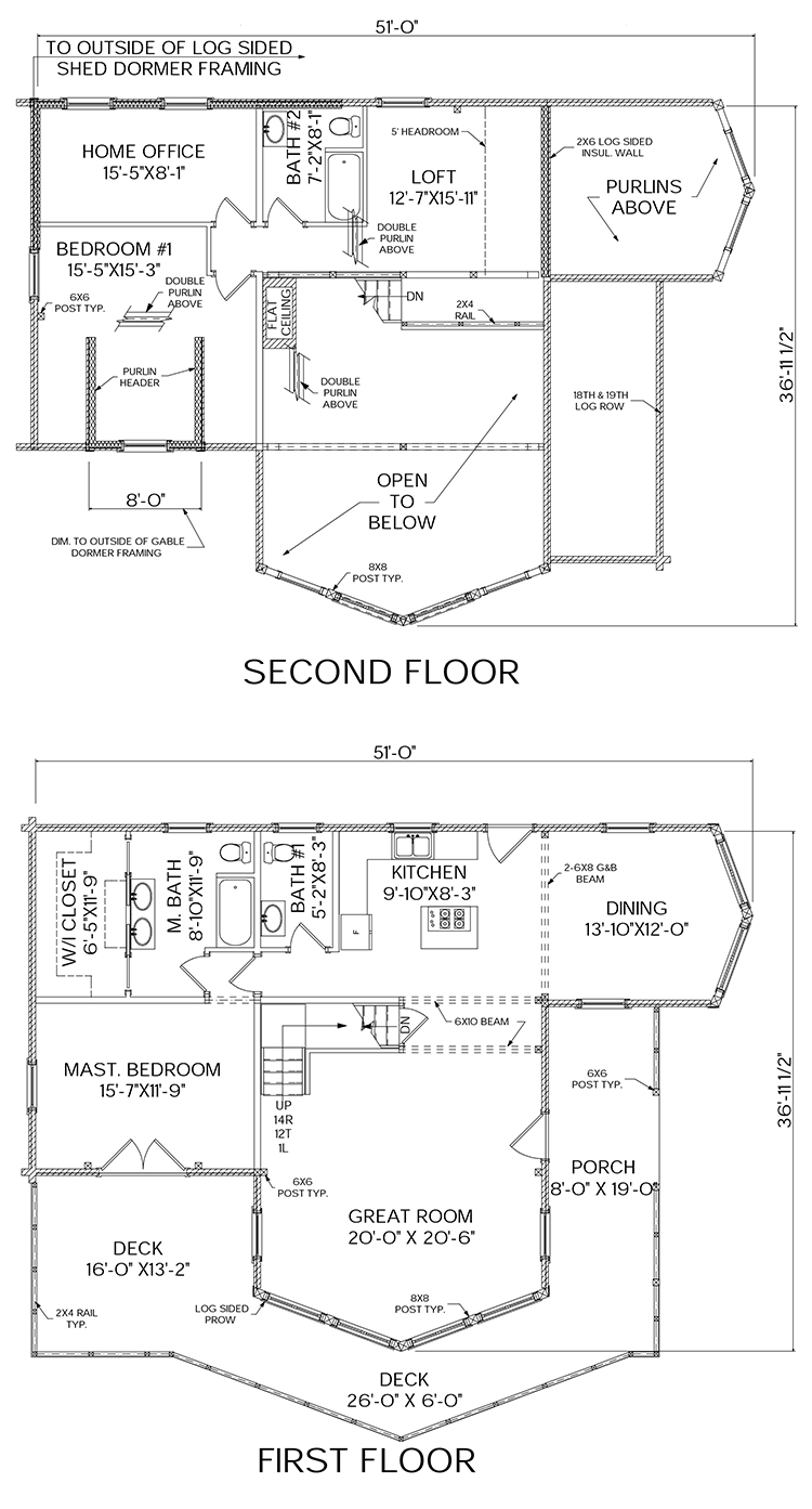(Name) log home floorplan