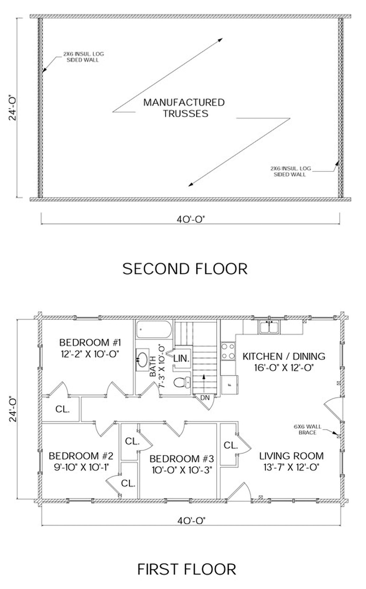 Little Wilson Pond log home floorplan