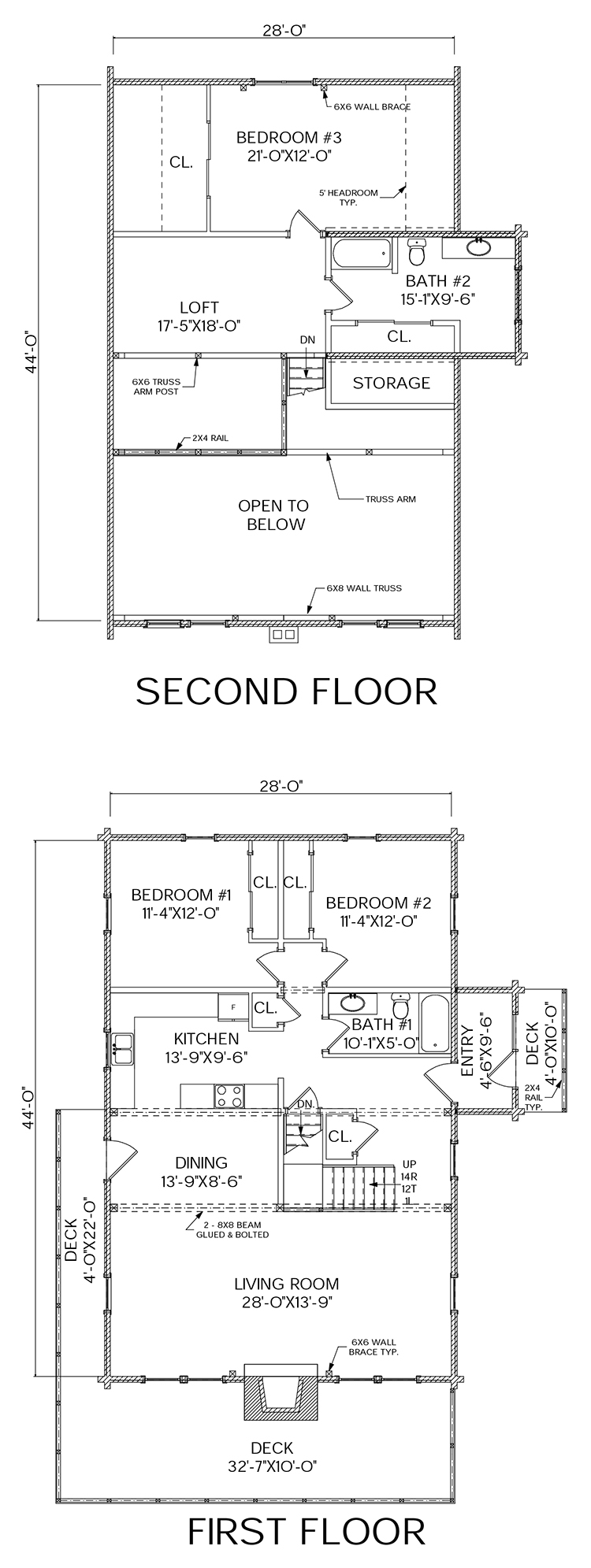 Mountaineer log home floorplan