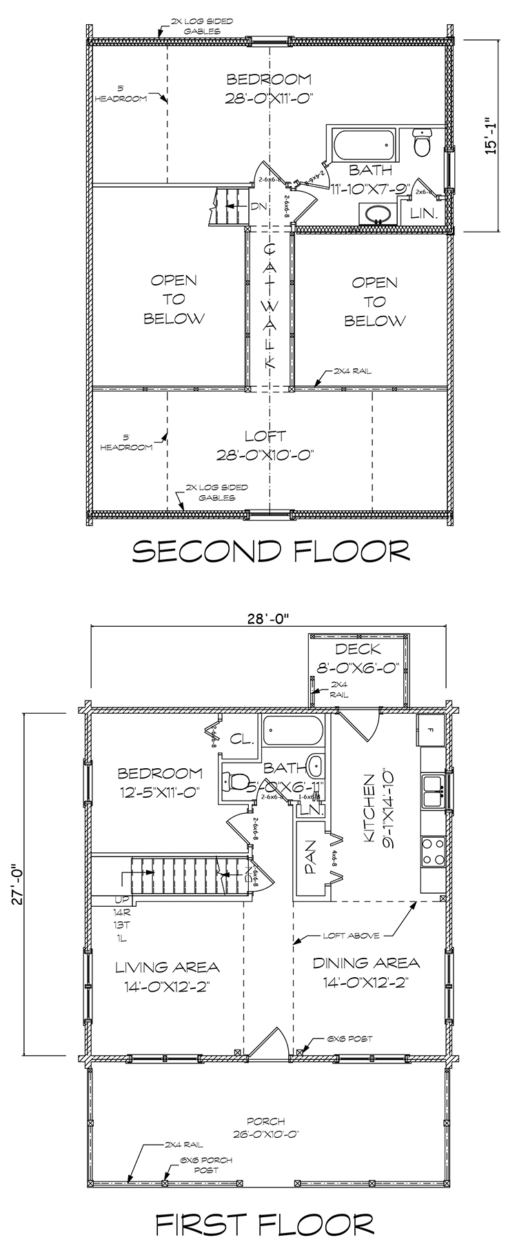 Webster log home floorplan