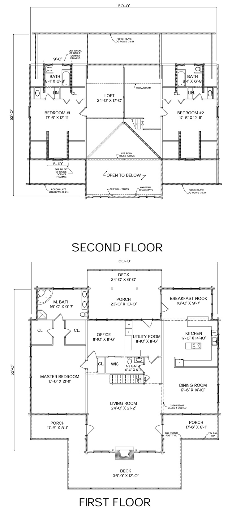 bridgewater log home floor plan from nh log cabin homes