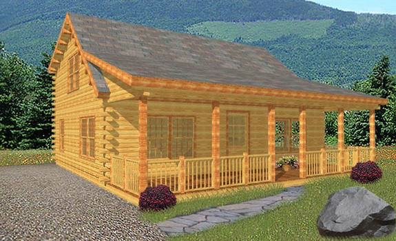 Appalachian log home from nh log cabin homes