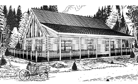 Madison log home from nh log cabin homes