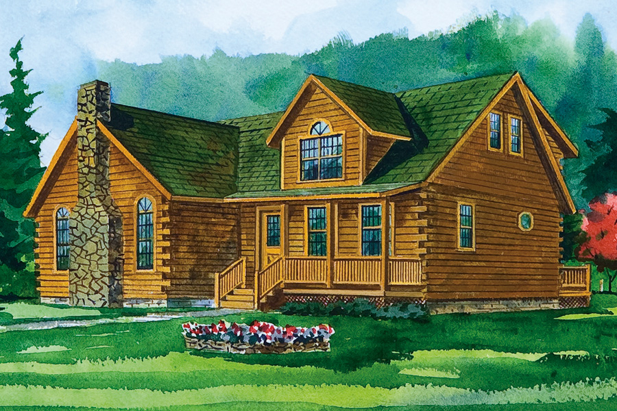 millwood log home from Hochstetler Milling