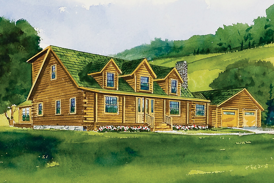 orchard view log home from Hochstetler Milling
