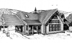 Chamberlain log home from nh log cabin homes