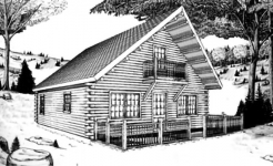 Laker log home from nh log cabin homes