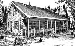 Pioneer log home from nh log cabin homes