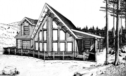 Tahoe log home from nh log cabin homes