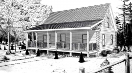 Telos log home from nh log cabin homes