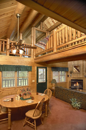 Harrington log home interior