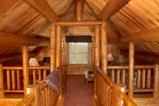 Harrington log home loft