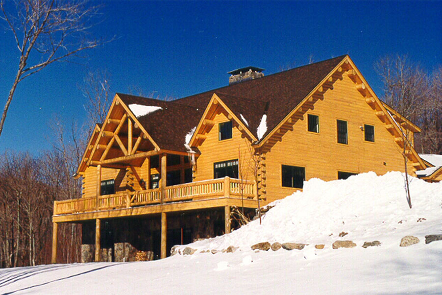 Ripogenus Log Home Exterior